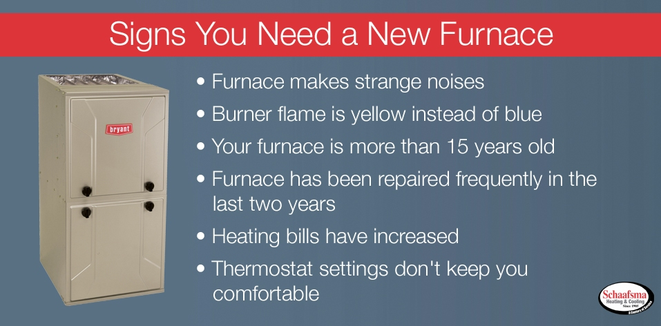 Reasons to Replace your Furnace - Schaafsma Heating and Cooling