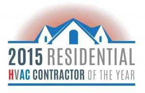 2015 Residential HVAC Contractor of the Year in Wyoming MI.