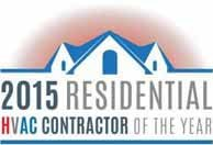 2015 Residential HVAC Contractor of the Year in Rockford  MI.